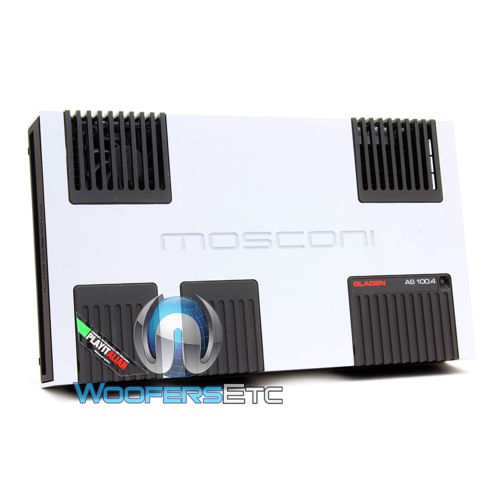Mosconi AS 100.4 W 4-Channel 4 x 155W AS Line Series Class AB Amplifier