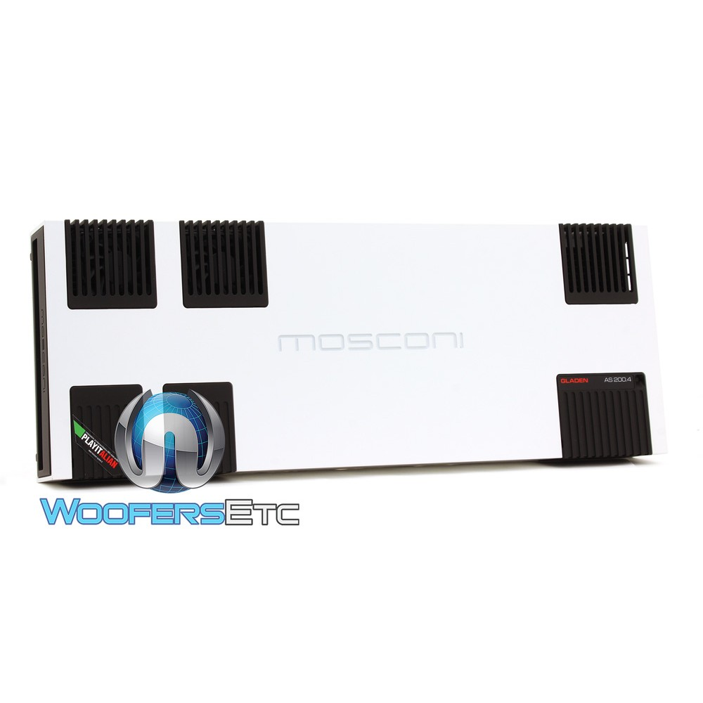 Mosconi AS 200.4 W 4-Channel 4 x 320W AS Line Series Class AB Amplifier