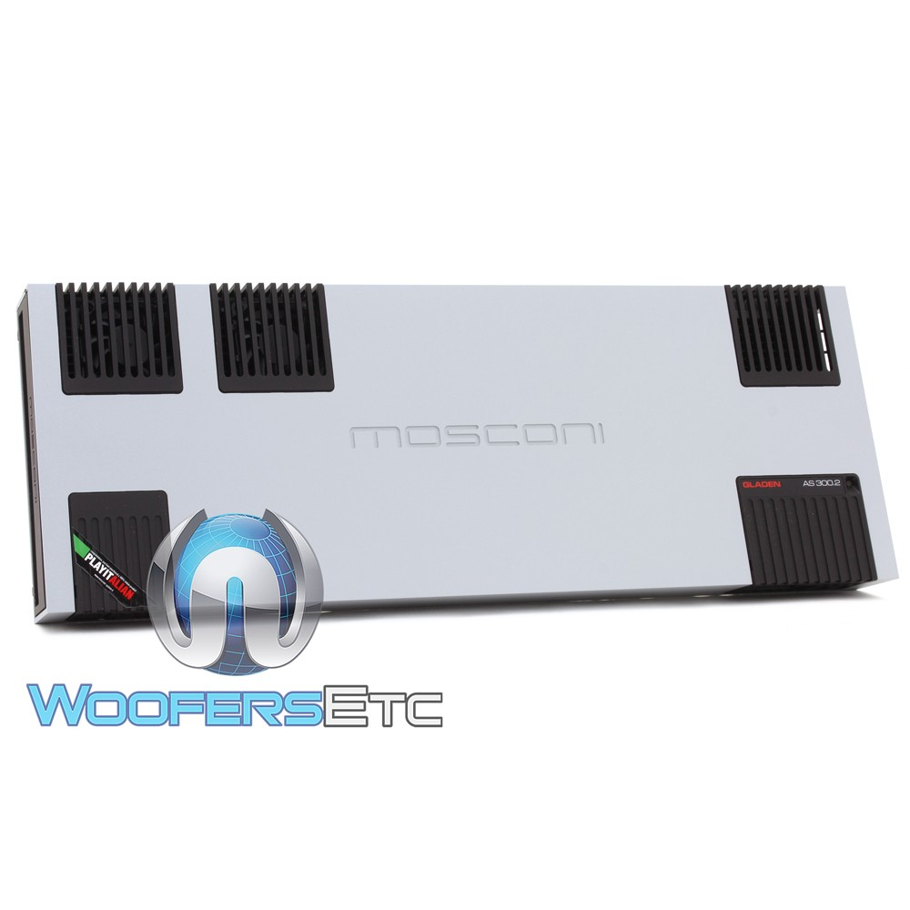 Mosconi AS 300.2 2-Channel 1 x 1800W AS Line Series Class AB Amplifier.