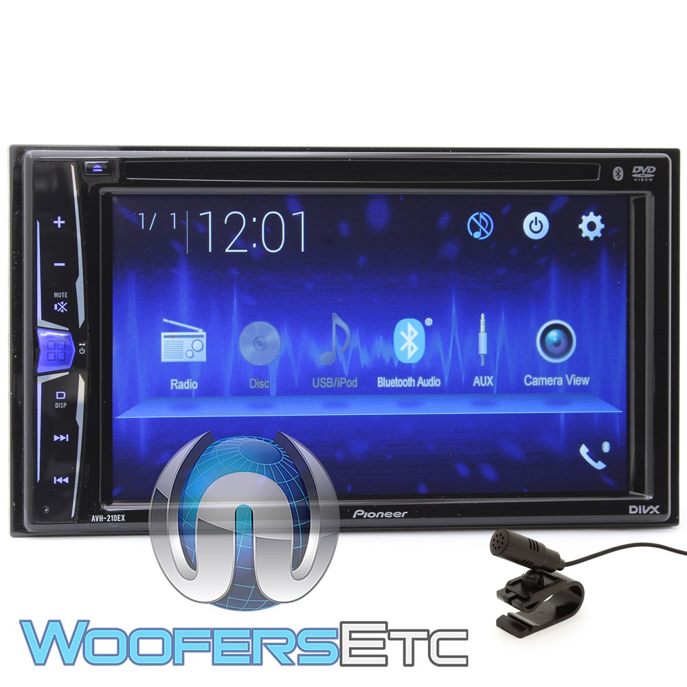 pioneer avh 210ex in dash 2 din 6 2 touchscreen dvd. Black Bedroom Furniture Sets. Home Design Ideas