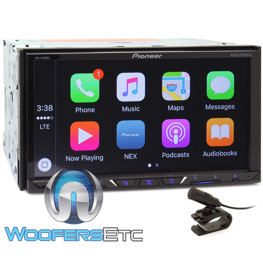 avh 2300nex pioneer 2 din in dash 7 touchscreen dvd stereo receiver with apple carplay. Black Bedroom Furniture Sets. Home Design Ideas