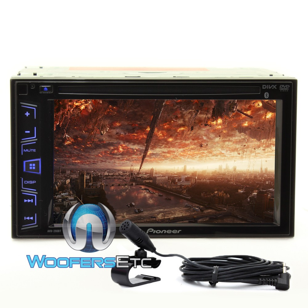 pioneer avh 290bt in dash 2 din 6 2 inch touchscreen dvd mp3 car stereo receiver with bluetooth. Black Bedroom Furniture Sets. Home Design Ideas