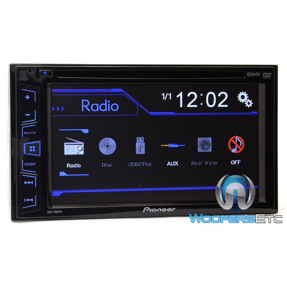 avh 190dvd pioneer 2 din in dash 6 2 touchscreen lcd display dvd usb a v receiver. Black Bedroom Furniture Sets. Home Design Ideas