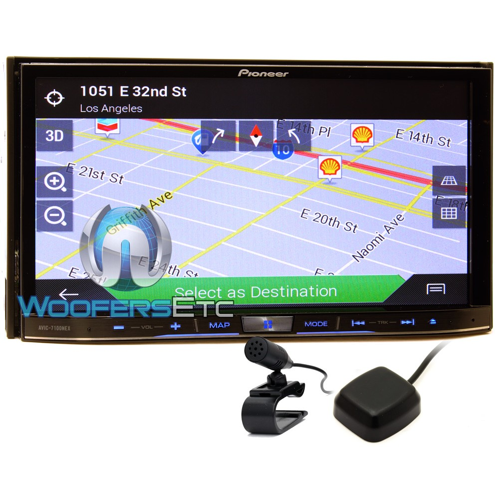 """AVIC-7100NEX - Pioneer In-Dash 7"""" LCD Touchscreen Monitor CD/DVD Stereo Receiver with GPS Navigation System, iPhone/Android Compatible and HD Radio"""