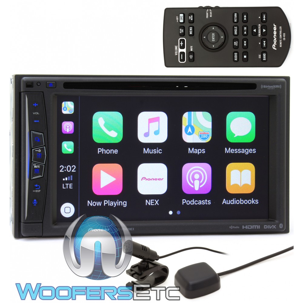 pioneer avic w6400nex in dash 2 din 6 2 touchscreen dvd. Black Bedroom Furniture Sets. Home Design Ideas