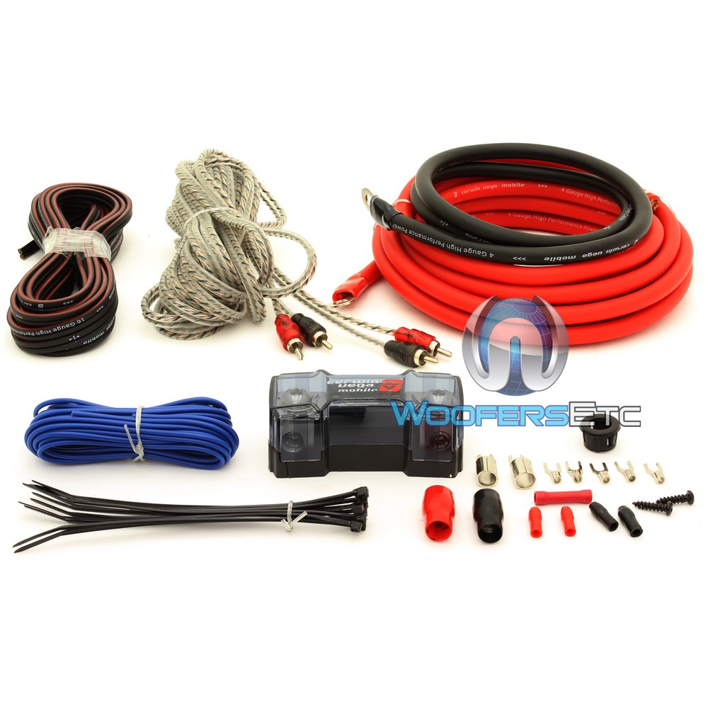 CAK4 - Cerwin Vega 4 AWG Amplifier Wiring Kit