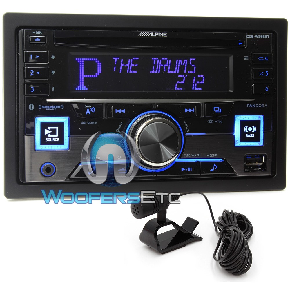 cde w265bt alpine in dash 2 din cd mp3 receiver with. Black Bedroom Furniture Sets. Home Design Ideas