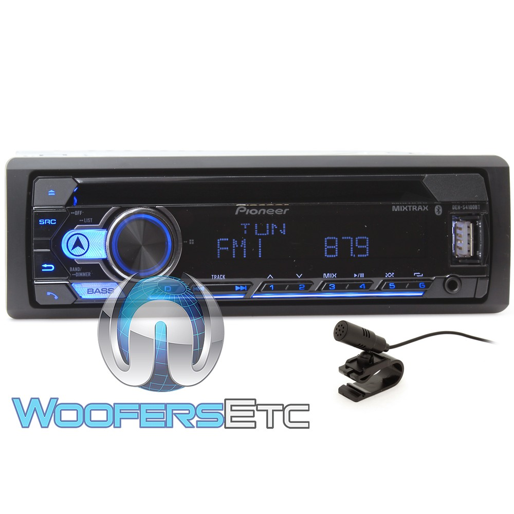 Pioneer DEH-S4100BT In-Dash 1-DIN CD/MP3/USB Car Stereo Receiver with iPhone/Android Compatibility, SmartSync, Spotify and Bluetooth Connectivity