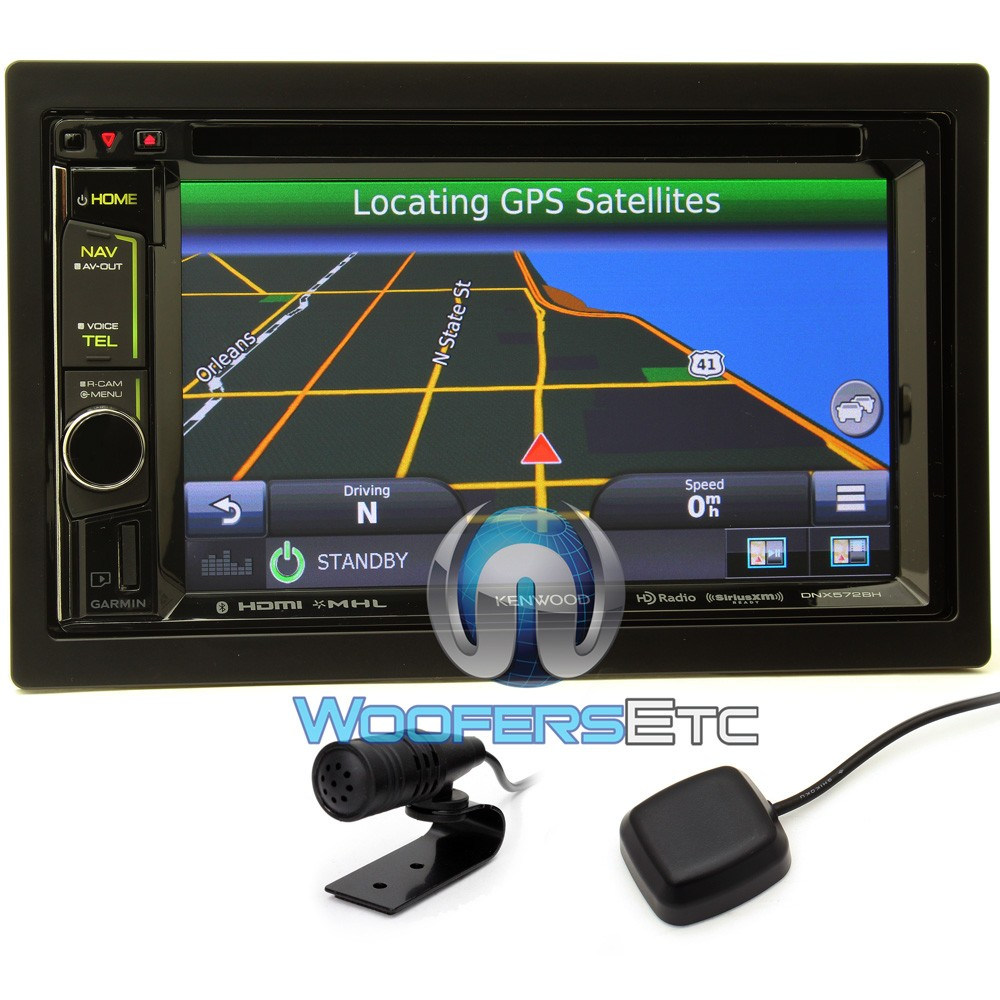 Dnx572bh kenwood in dash 2 din 6 2 touchscreen dvd receiver with garmin navigation system and iphone android control