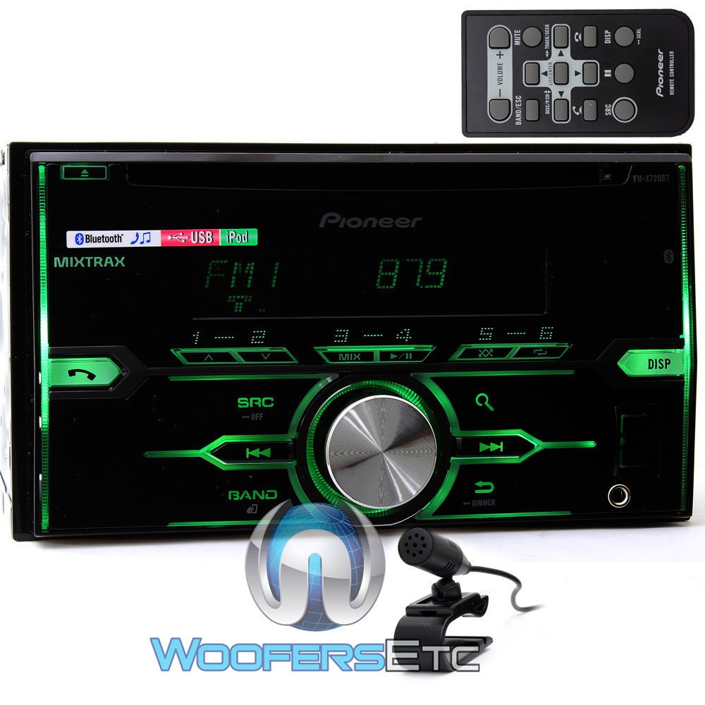 fh x720bt pioneer 2 din in dash cd usb mp3 car stereo receiver with bluetooth. Black Bedroom Furniture Sets. Home Design Ideas
