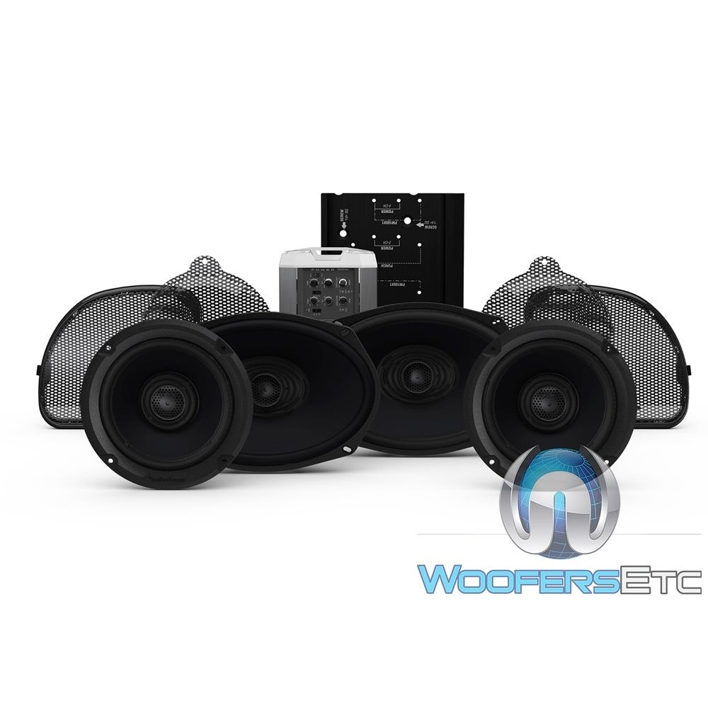 Rockford Fosgate HD14CVO-STAGE2 Audio Upgrade Kit for Select 2014+ Harley Davidson Road Glide CVO and Street Glide CVO Motorcycles