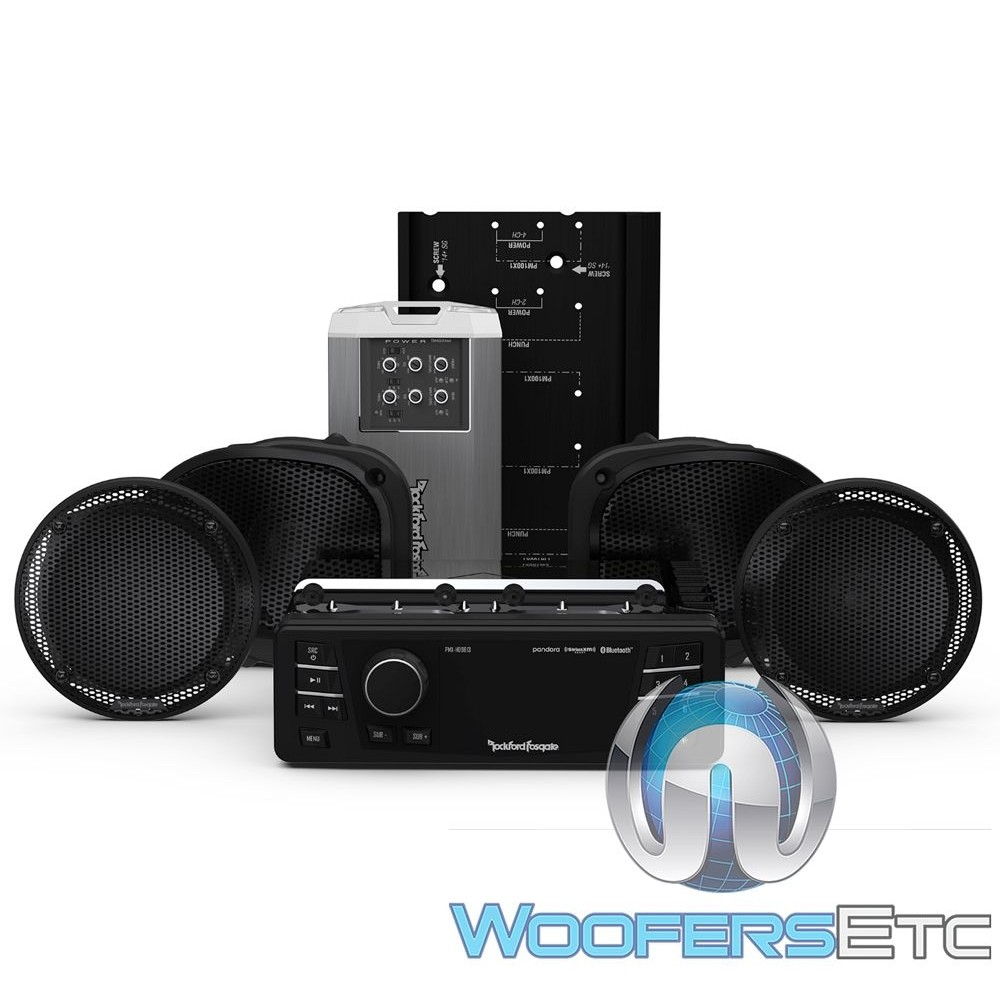 Rockford Fosgate HD9813RGU-STAGE2 Audio Upgrade Kit for Select 1998-2013 Harley Davidson Road Glide Ultra Motorcycles