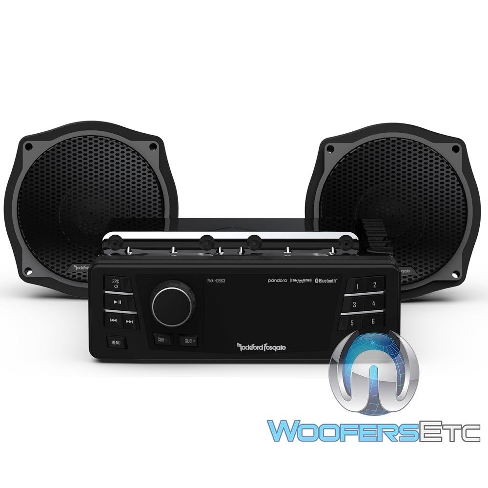 Rockford Fosgate HD9813SG-STAGE1 Audio Upgrade Kit for Select 1998-2013 Harley Davidson Street Glide Motorcycles
