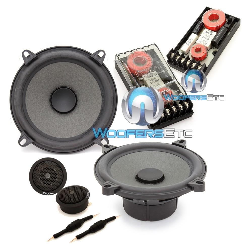 "Focal ISN 130-XO 5.25"" 50W RMS Integration Series Slim 2-Way Component Speakers"