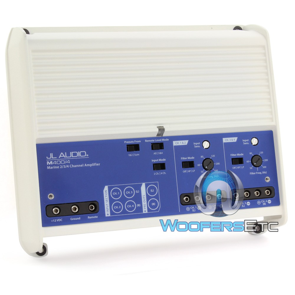 M400/4 - JL Audio 4 Channel 400 Watt Marine Amplifier