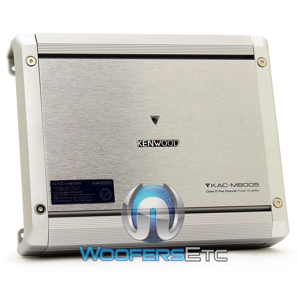 Kac M8005 Kenwood 5 Channel 1600w Max Conformal Coated Bridgeable 4 Digital Amplifier Pro Kit Marine Power
