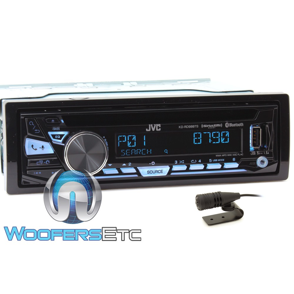 JVC KD-RD98BTS In-Dash 1-DIN Bluetooth CD Stereo Receiver