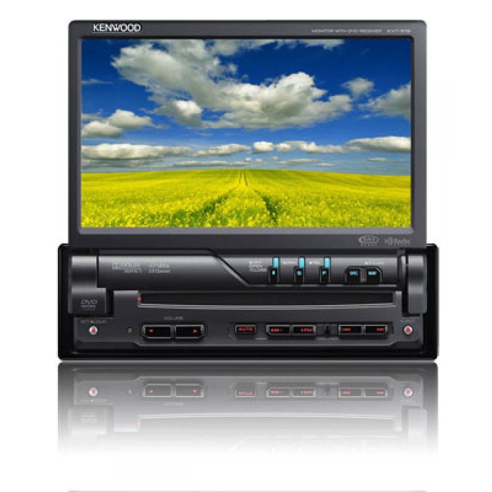 kvt 516 kenwood in dash 1 din cd dvd mp3 media receiver motorized 7 tft lcd touchscreen monitor. Black Bedroom Furniture Sets. Home Design Ideas