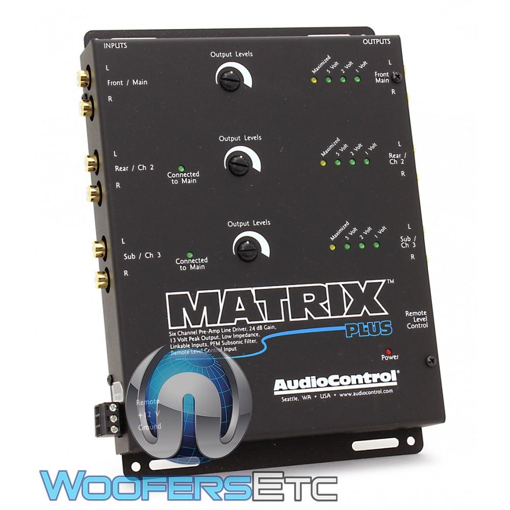 AudioControl Matrix Plus Black 6-Channel Line Driver with Optional Level Control