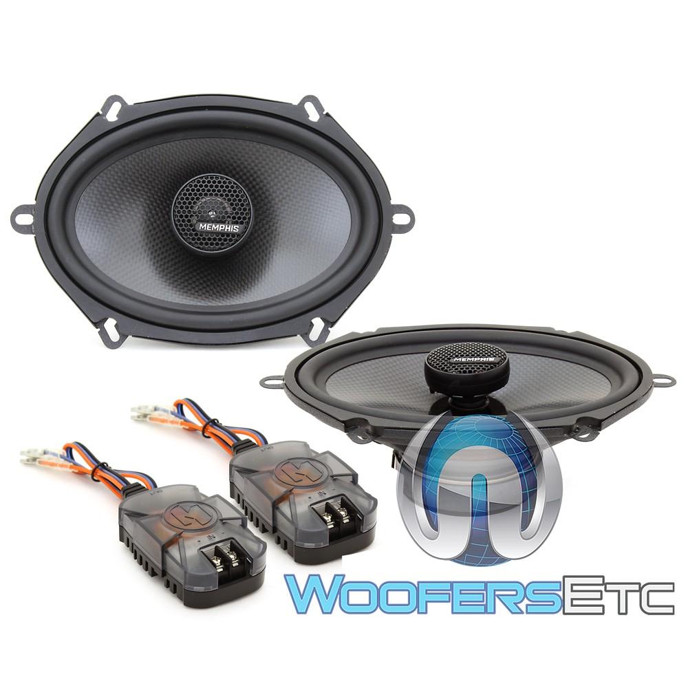 "MEMPHIS MCX57 5""x7"" Carbon Fiber Coaxial 2-Way Aluminum Tweeters Speakers"