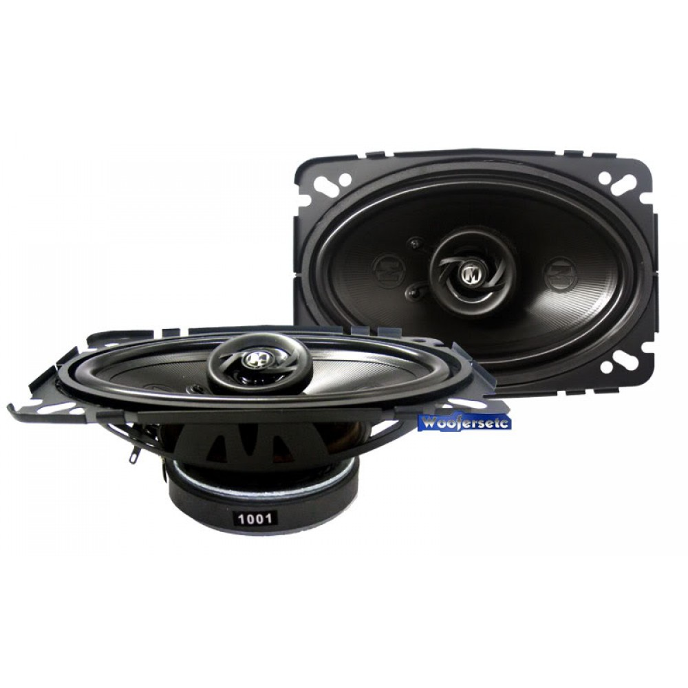 "15-PR462V2 - Memphis 4"" x 6"" 2-Way Power Reference Coaxial Speakers w/ Swivel Tweeter"