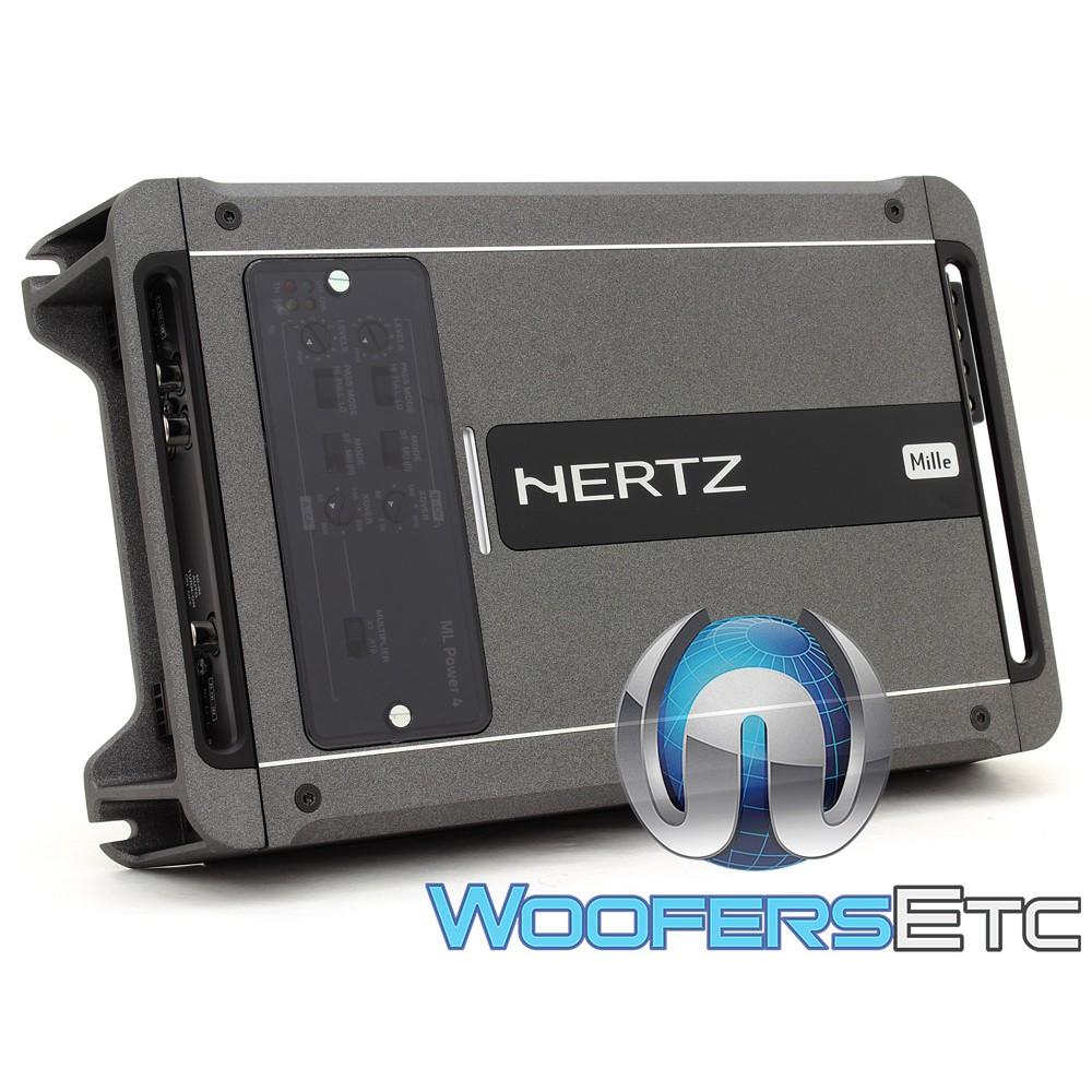 Hertz ML POWER 4 4-Channel 1000W RMS Class D Mille Amplifier