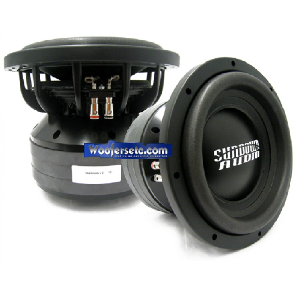 "Nightshade-10 v.2 D2 - Sundown Audio 10"" Nightshade Series Dual 2-Ohm Subwoofer"