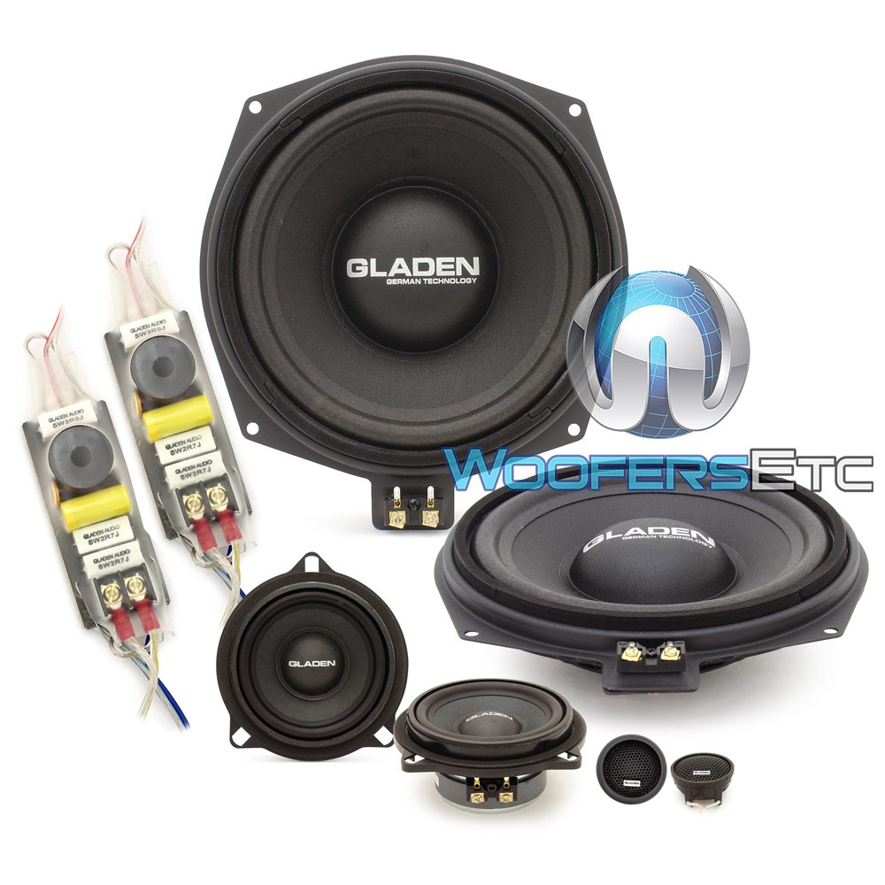 """Gladen ONE 201 BMW ALPHA 8"""" 85W RMS 3-Way Component Speakers System"""