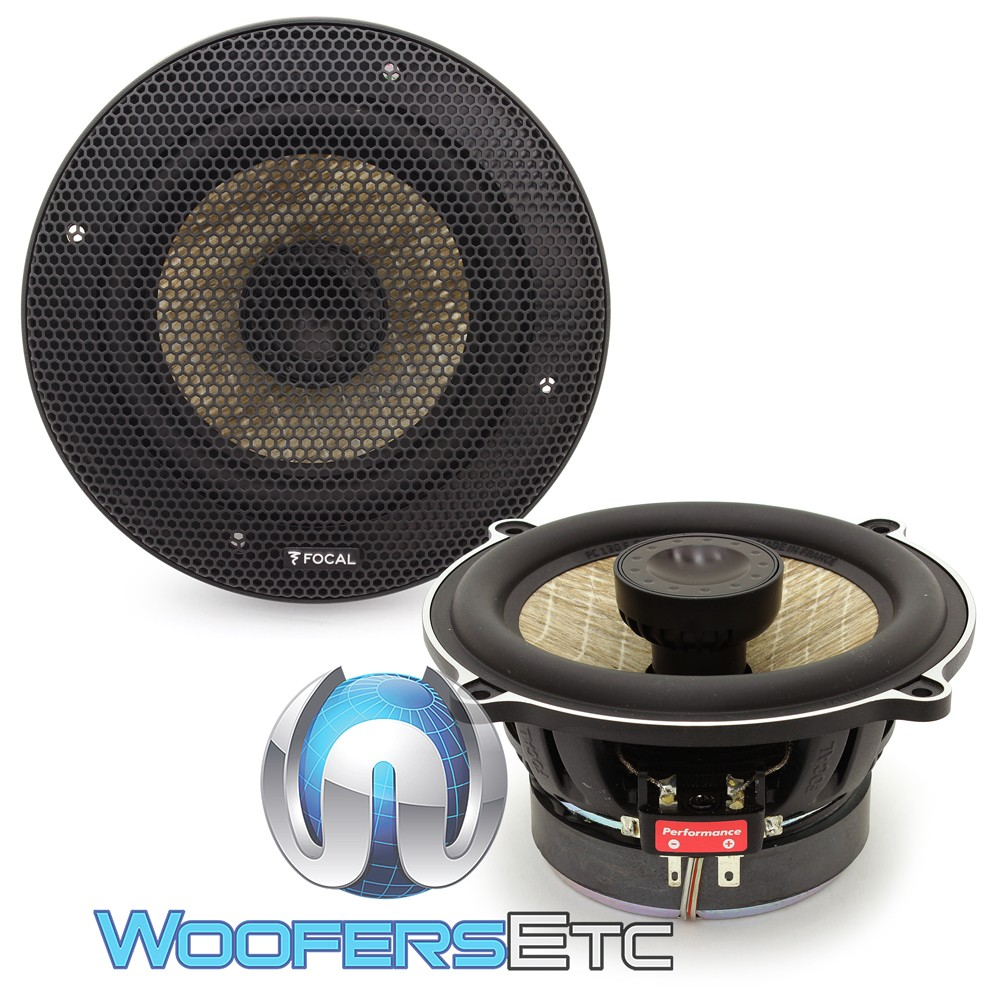focal pc 130f 5 60w rms 2 way flax cone coaxial speakers. Black Bedroom Furniture Sets. Home Design Ideas