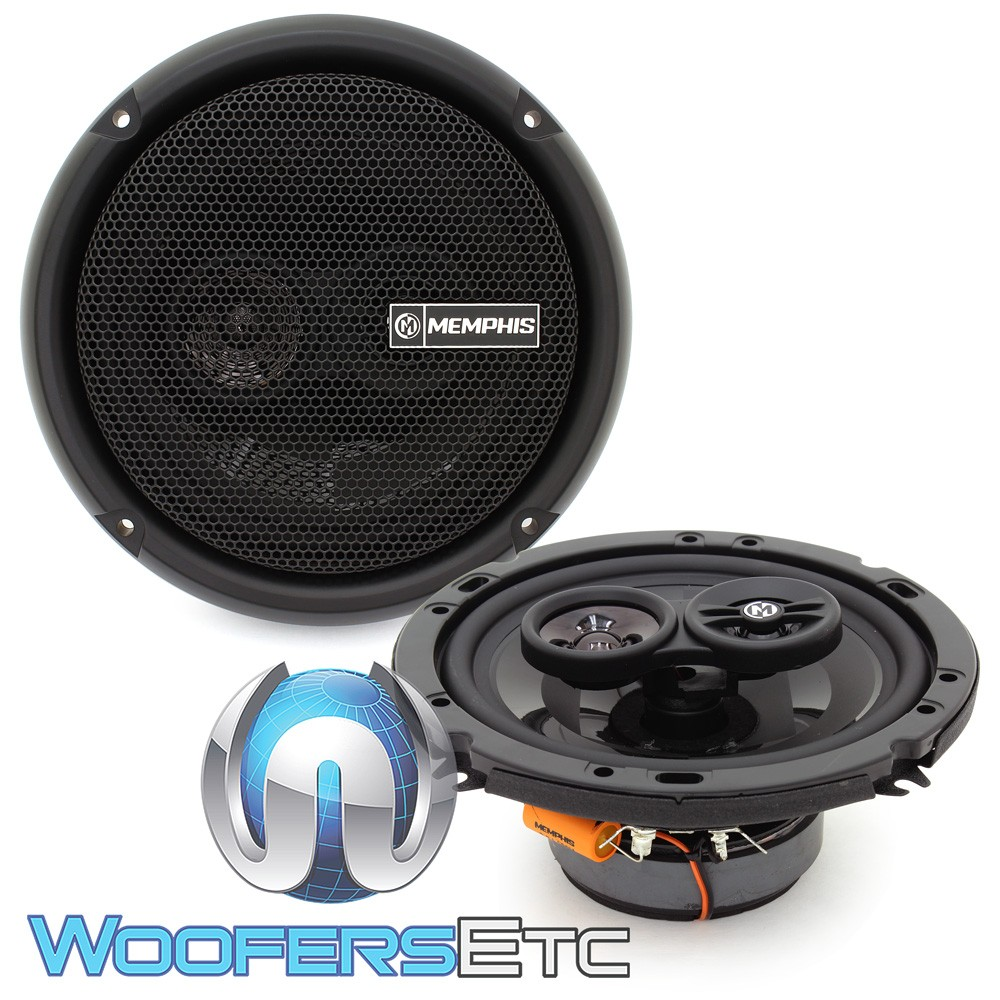 """Memphis PRX603 6.5"""" 50W RMS 3-Way Coaxial Speakers"""