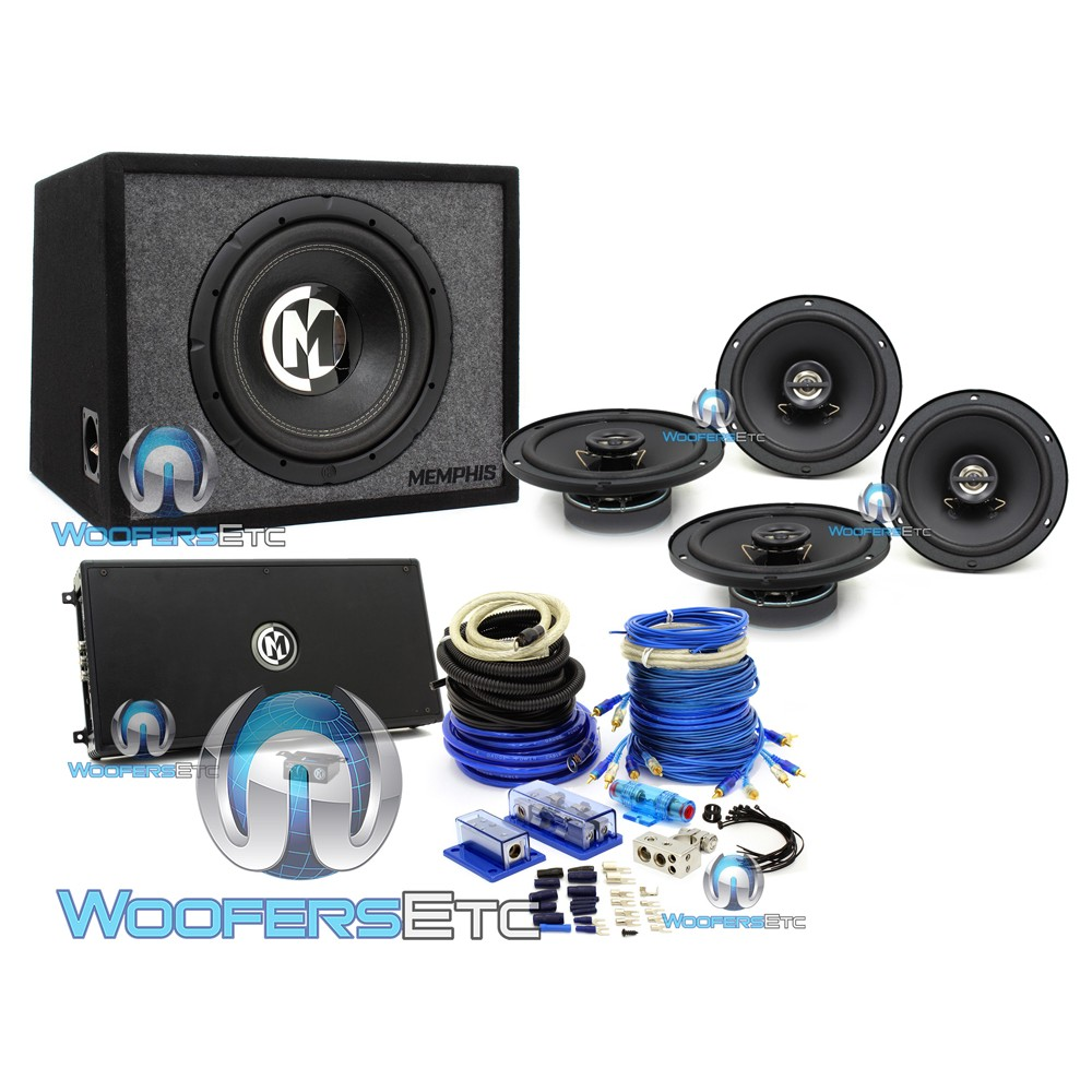Memphis Pkg5 Subwoofer Amplifier Coaxial Speaker And Wire Kit Package