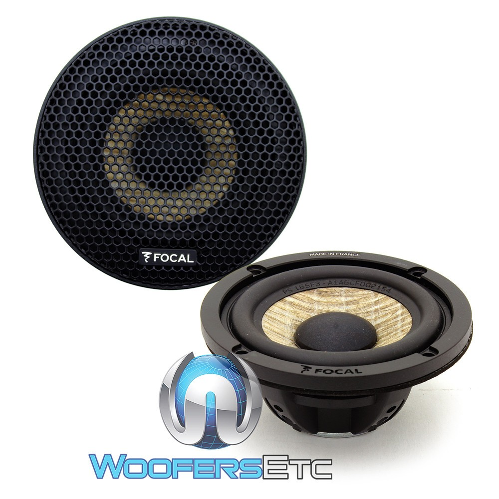"""Focal 3FX 3"""" 50W RMS Expert Series Midrange Speakers with Grills"""