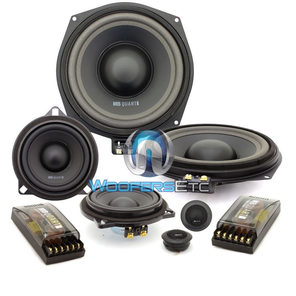 """QM200.3 - MB Quart 8.5"""" 4-Ohm 3-Way Component Speakers System for select BMW Vehicles"""