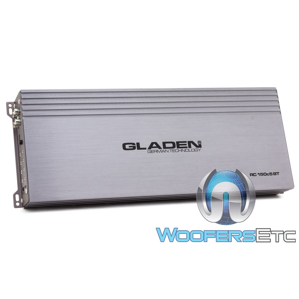 Gladen RC150c5 BT 5-Channel 850 Watt RMS Class AB + D Amplifier with Bluetooth