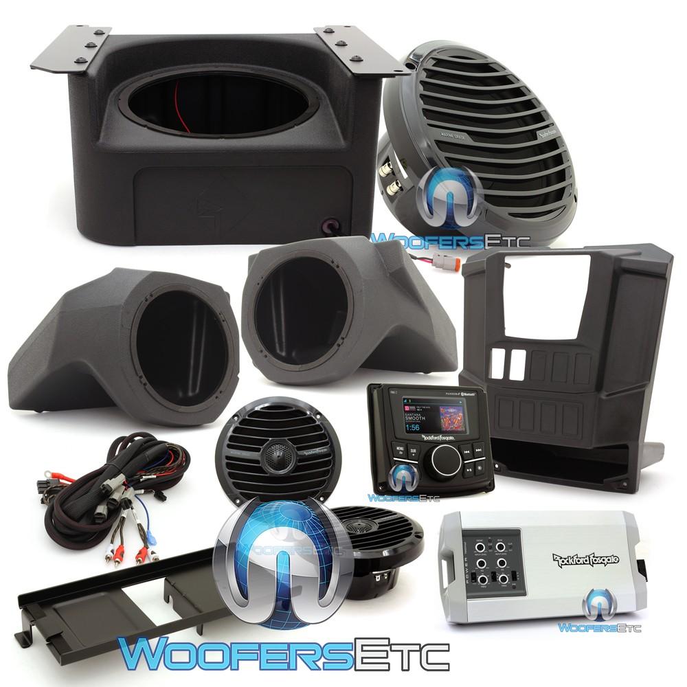 Rockford Fosgate RNGR-STAGE3 400W Stereo, Speaker and Subwoofer Kit for Select Polaris Ranger