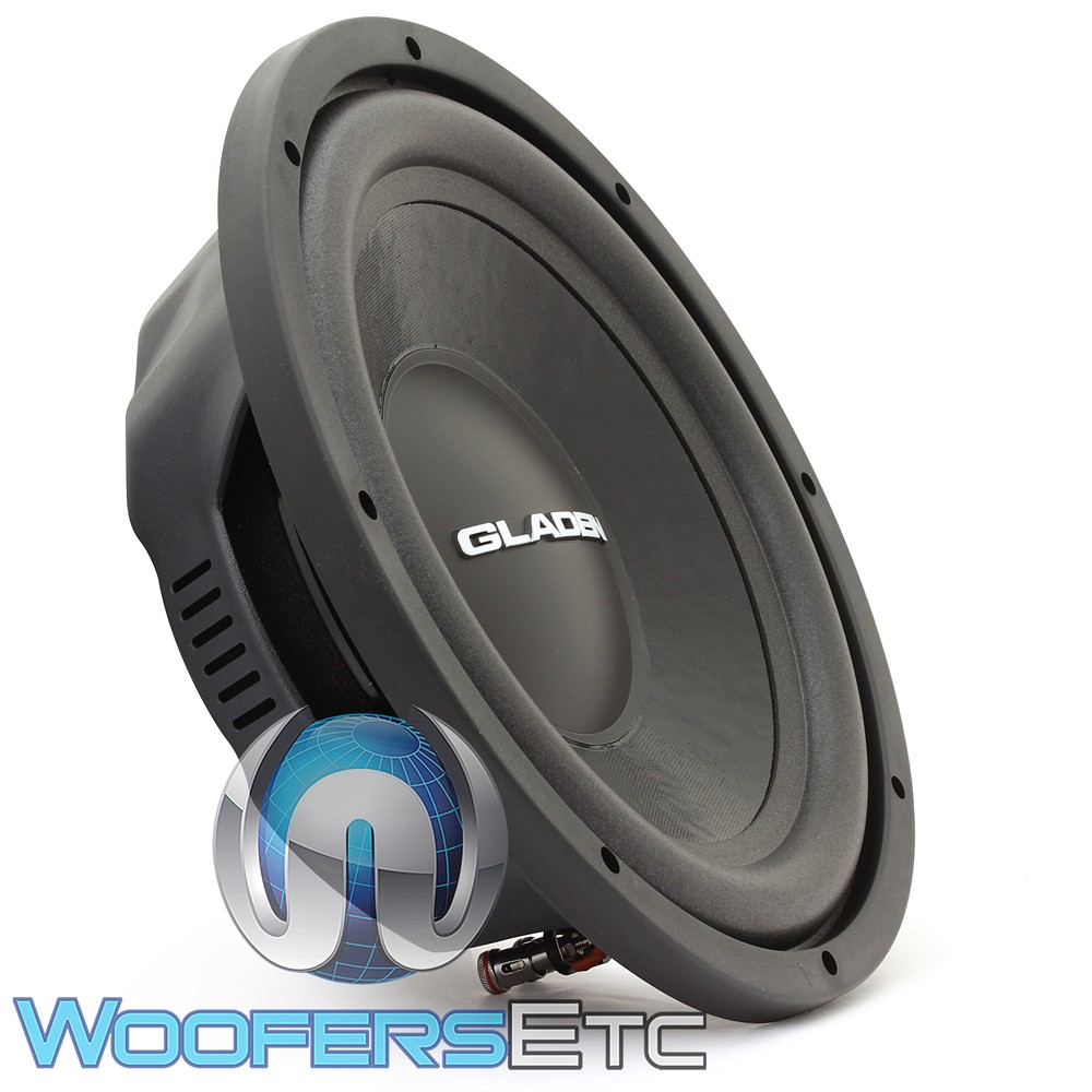 """Gladen RS-X 12 Slim 12"""" 400W RMS 4-Ohm RS-X Line Series Subwoofer"""