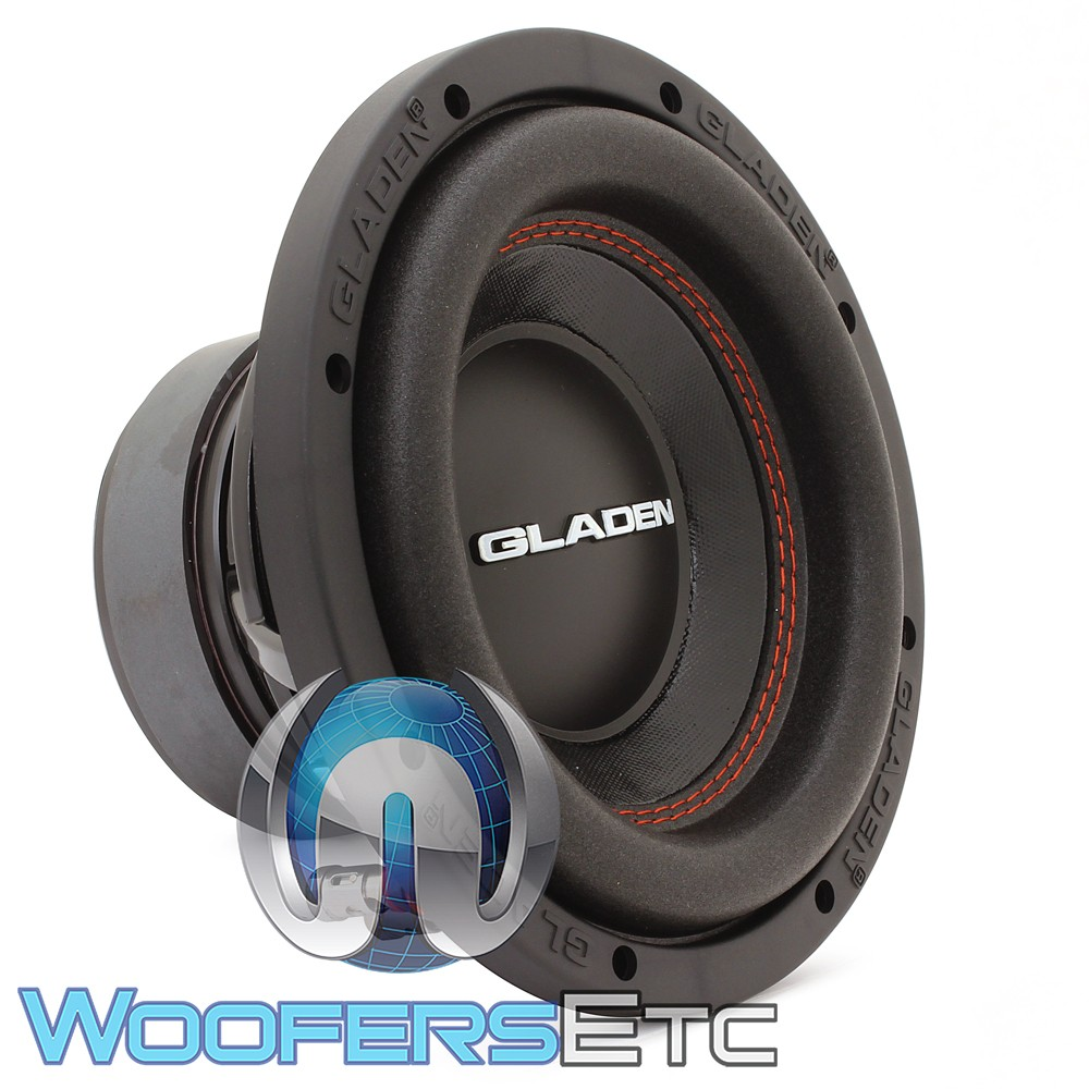 gladen mosconi rs x 08 8 250w rms 4 ohm subwoofer. Black Bedroom Furniture Sets. Home Design Ideas