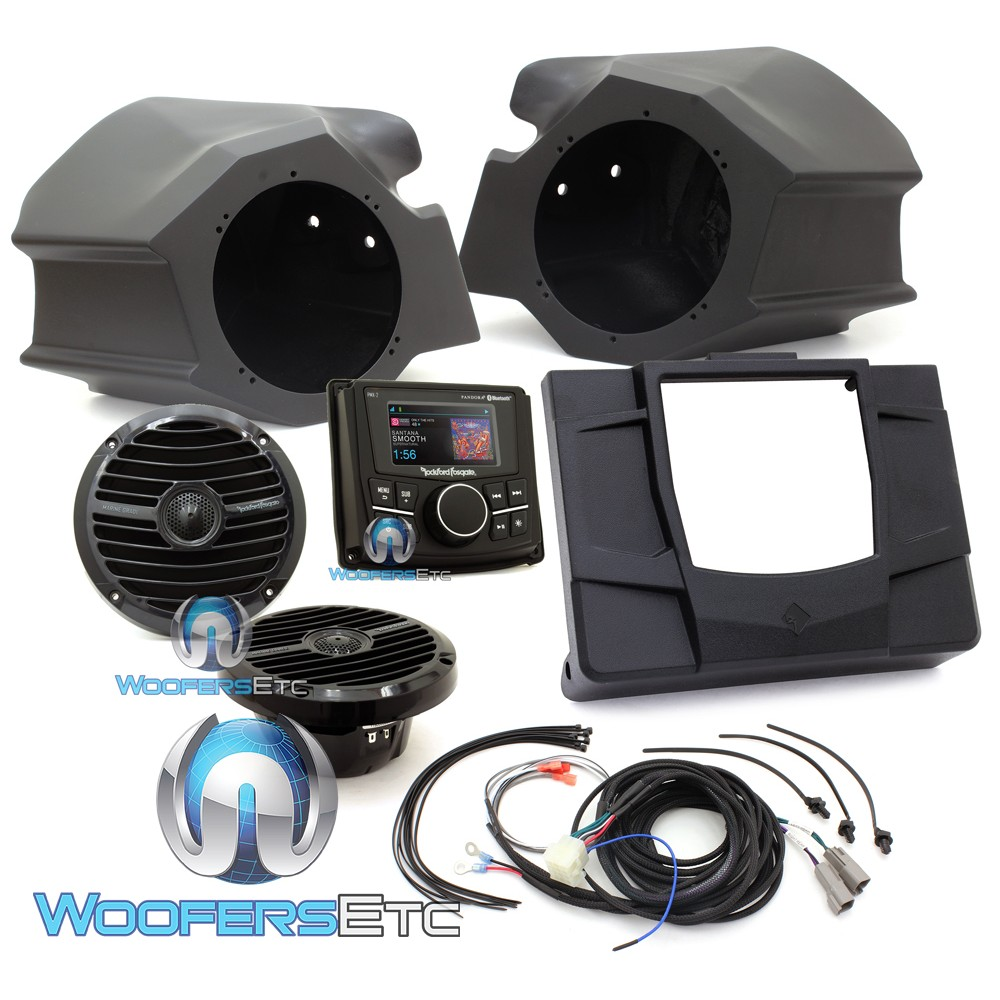 Rockford Fosgate RZR-STAGE2 Stereo and Front Speaker Motorsports Audio Kit for select Polaris RZR Models
