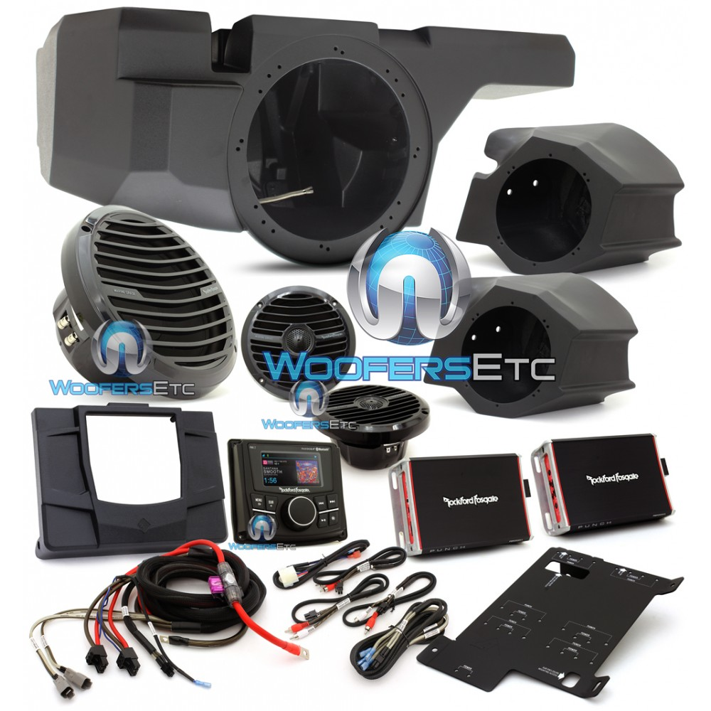 Rzr Stage3 Rockford Fosgate 600w Stereo Kit Motorsports Audio Wiring Harness