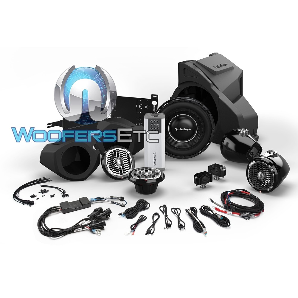 Rockford Fosgate RZR14RC-STAGE5 Audio Upgrade Kit for Select Polaris RZR Models with Ride Command