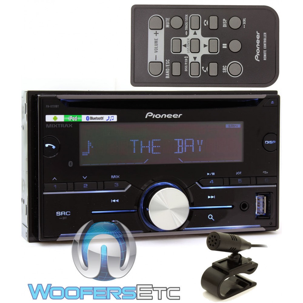 pioneer fh x731bt in dash 2 din cd stereo receiver with. Black Bedroom Furniture Sets. Home Design Ideas