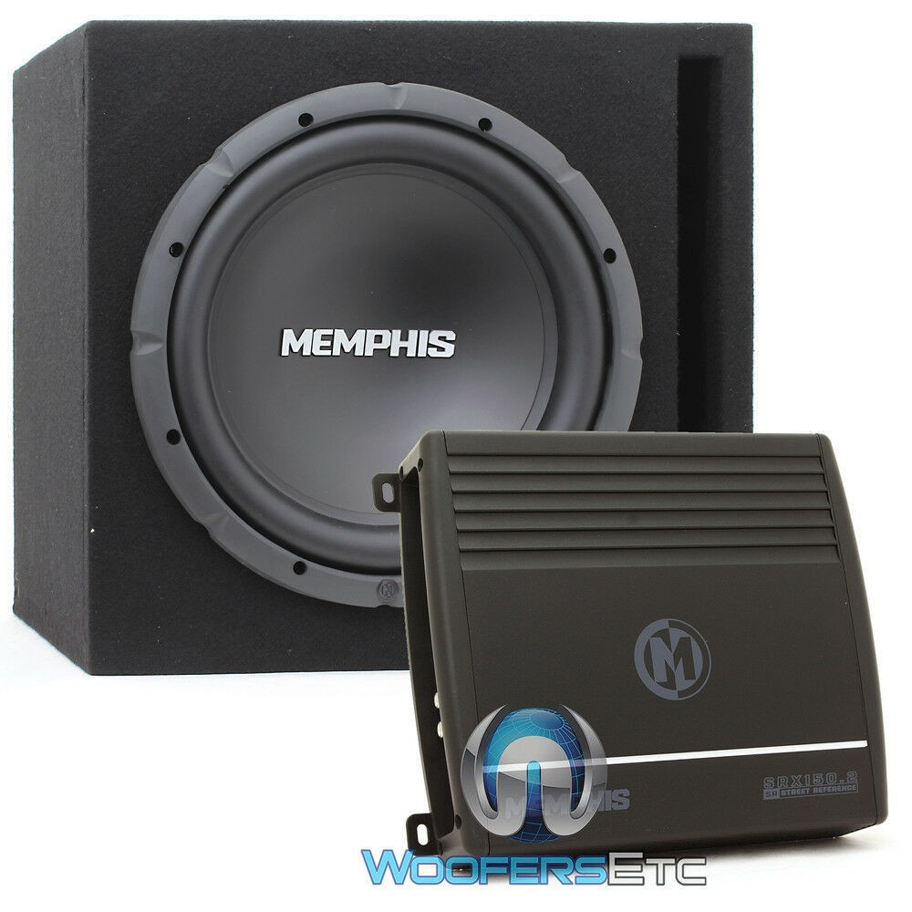 "Memphis SRX112 12"" 250W RMS Single Ported Box Bass System With SRX2.150 Amplifier"