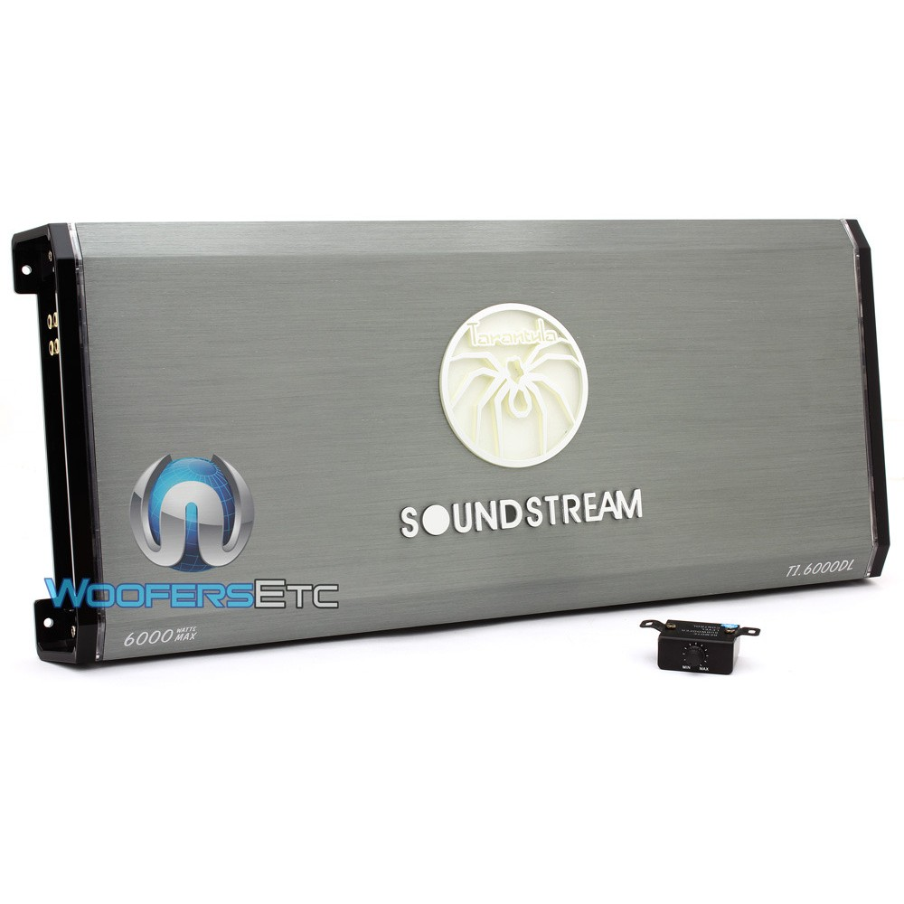 T1.6000DL - Soundstream Monoblock 6,000W Max Class D Amplifier