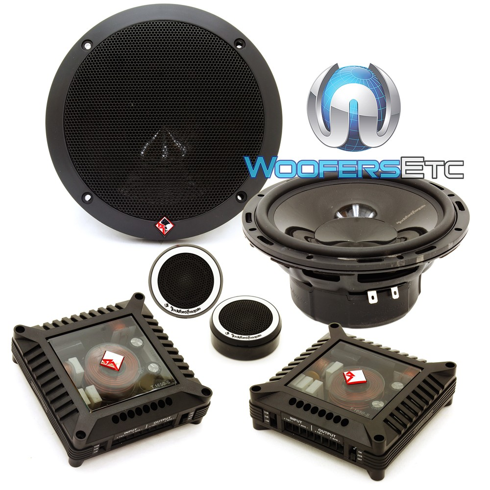 """Rockford Fosgate T1650-S 6.5"""" 80W RMS 2-Way Euro Fit Compatible Component Speakers"""