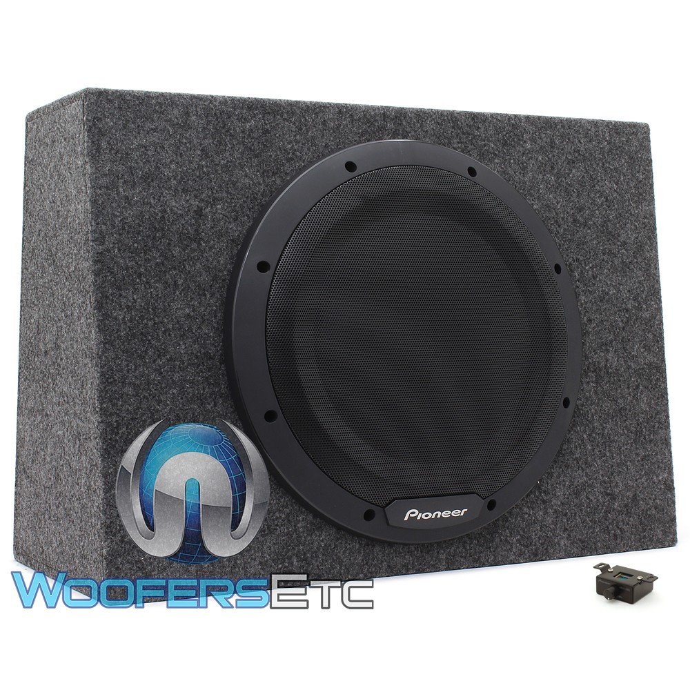 """Pioneer TS-WX1210A 12"""" 350W RMS Single Sealed Enclosed Subwoofer with Built-in Amplifier"""