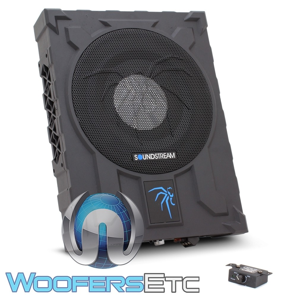 """Soundstream USB-10P 10"""" Underseat Enclosed Subwoofer with Built-in Amplifier"""