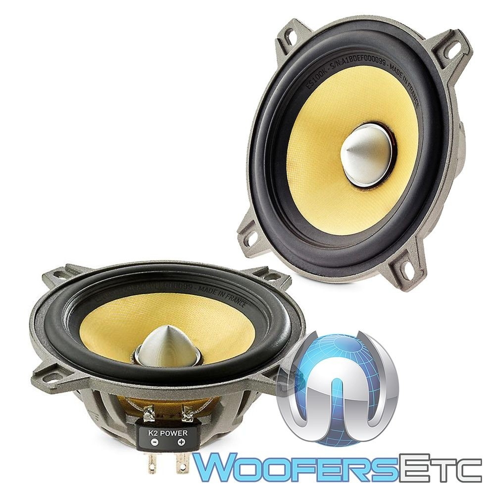 "Focal W/ES100K 4"" 60W RMS Elite K2 Power Series Midbass Drivers"