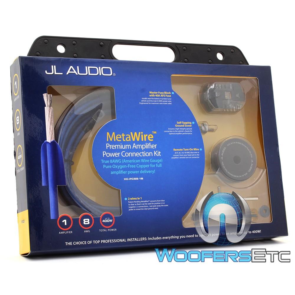 jl audio 12w6v2 wiring diagram xd-pcs8-1b - jl audio 8 awg metawire power amplifier ... jl audio amp wiring kit