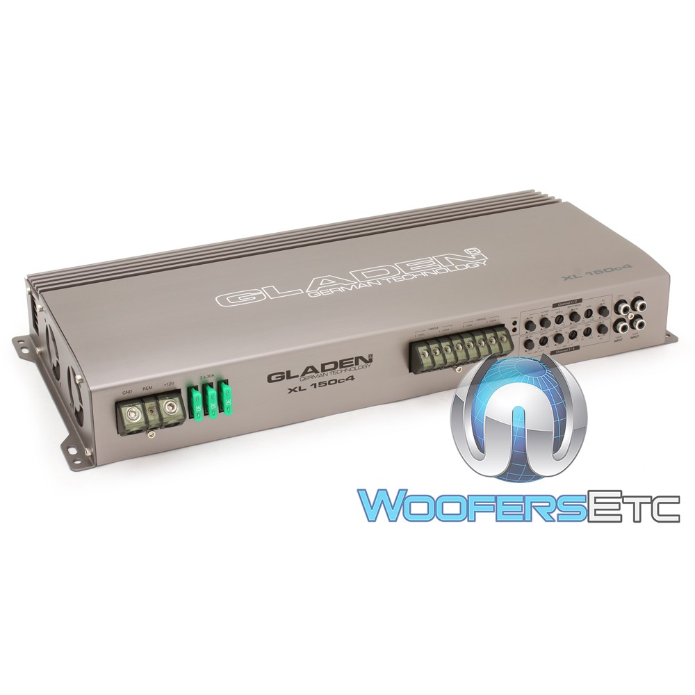Gladen XL-150c4 4-Channel 900W RMS XL Series Amplifier