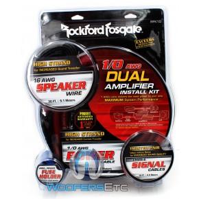 NEW Rockford Fosgate RFK1D Amp Kit 1//0 AWG Dual Amplifier Kit